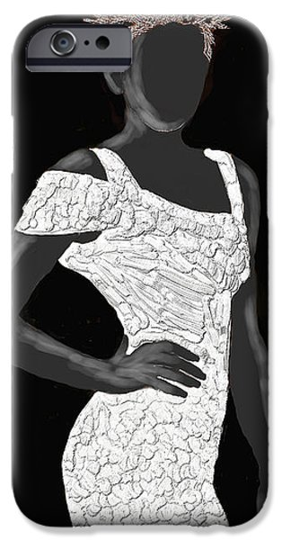 Figure iPhone Cases - Miley iPhone Case by Scott Bowlinger