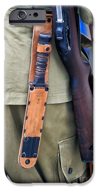 Military Small Arms 01 WW II iPhone Case by Thomas Woolworth