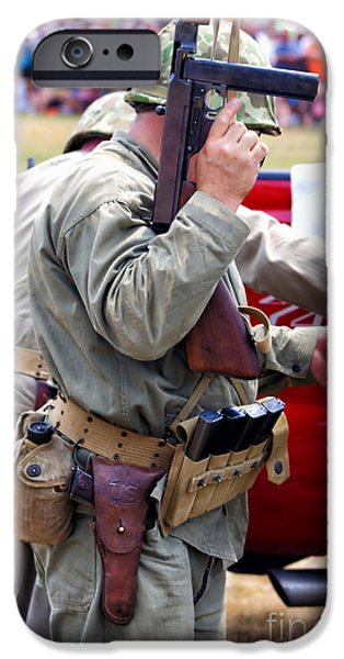 Military Small Arms 04 WW II iPhone Case by Thomas Woolworth