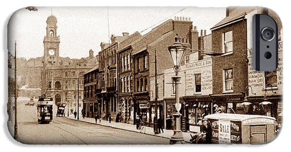 Chatham iPhone Cases - Military Street Chatham England iPhone Case by The Keasbury-Gordon Photograph Archive