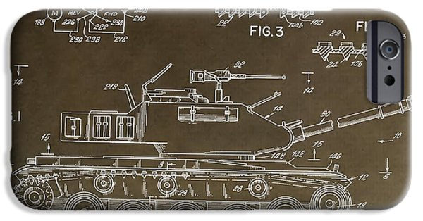 Toy Store iPhone Cases - Military Tank Patent iPhone Case by Dan Sproul
