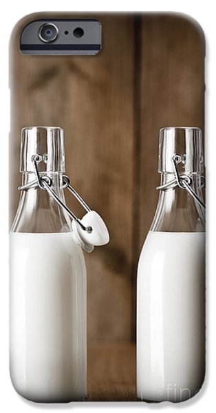 Pint Milk Bottle. iPhone Cases - Milk iPhone Case by Amanda And Christopher Elwell
