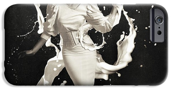 Flowing iPhone Cases - Milk iPhone Case by Erik Brede