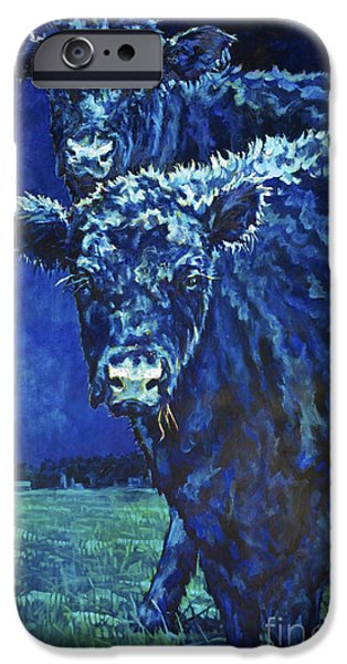 Black Angus iPhone Cases - Milk Moon iPhone Case by Patricia A Griffin