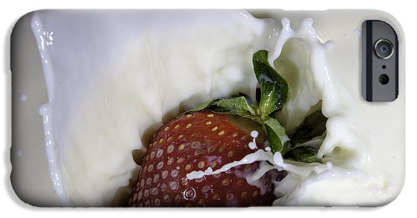 Dunk iPhone Cases - Milky Strawberry iPhone Case by Dylan Duhamel