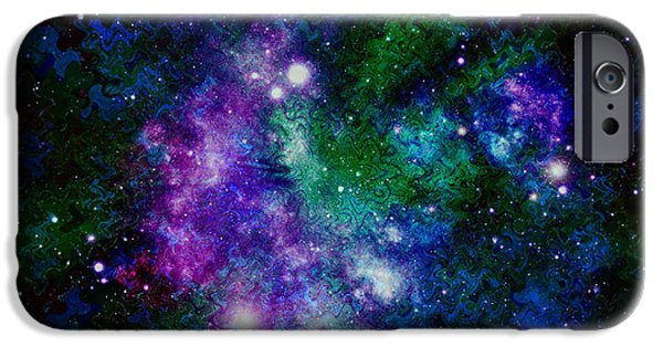 Abstract Night Sky iPhone Cases - Milky Way Abstract iPhone Case by Carol Groenen