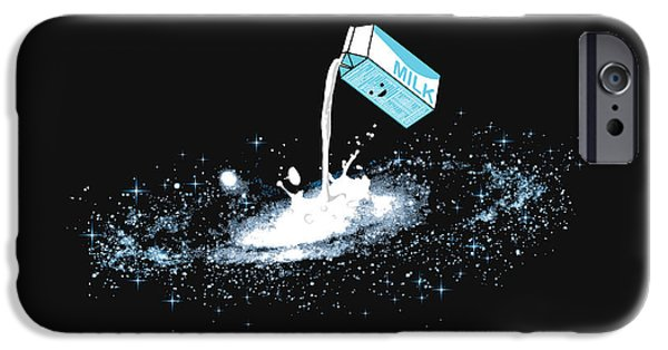 Drink iPhone Cases - Milky Way iPhone Case by Budi Satria Kwan