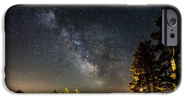 Dark Sky iPhone Cases - Milky Way from Oldham South Dakota USA iPhone Case by Aaron J Groen