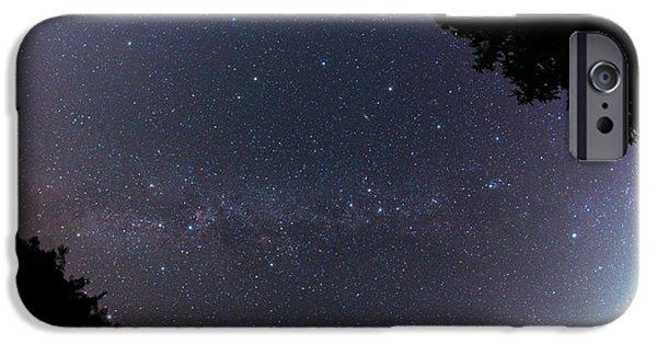 Stargazing iPhone Cases - Milky Way Galaxy iPhone Case by John Chumack