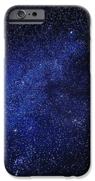 Lapland iPhone Cases - Milky Way Galaxy, Lapland, Sweden iPhone Case by Panoramic Images
