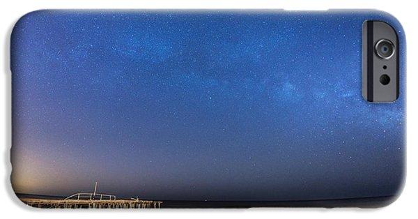 Michael Versprill iPhone Cases - Milky Way Jersey Shore iPhone Case by Michael Ver Sprill