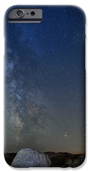 Maine Mountains iPhone Cases - Milky Way Over Cadillac iPhone Case by Rick Berk