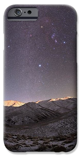 Snowy Night iPhone Cases - Milky Way Over Snow-covered Mountains iPhone Case by Babak Tafreshi, Twan
