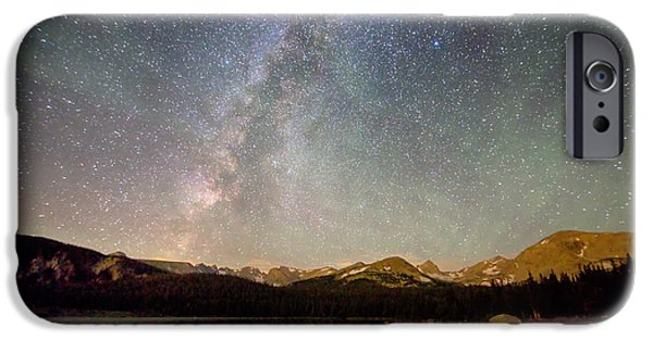 Arapaho iPhone Cases - Milky Way Over The Colorado Indian Peaks iPhone Case by James BO  Insogna