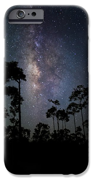 Tall iPhone Cases - Milky Way Over the Everglades iPhone Case by Andres Leon