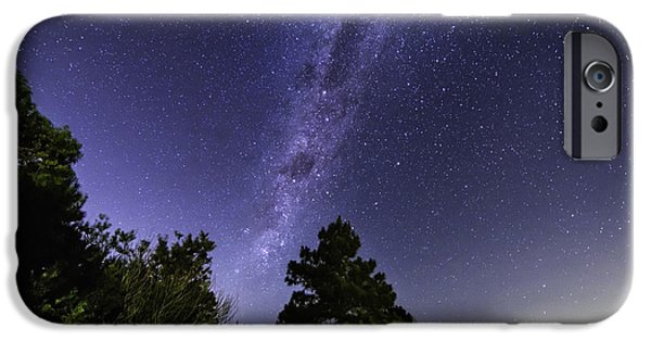 Constellations Pyrography iPhone Cases - Milky Way Southern Hemisphere iPhone Case by Gustavo Ordoqui