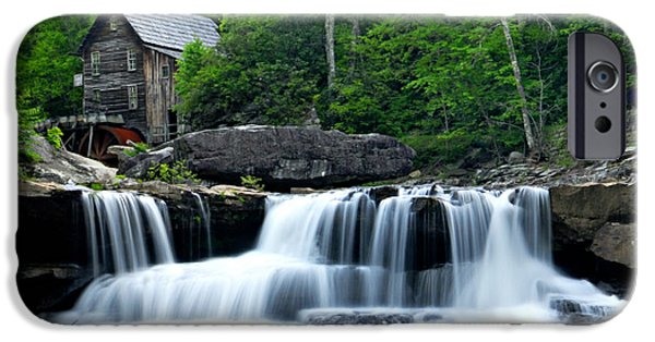 Grist Mill iPhone Cases - Mill and Waterfall iPhone Case by Larry Ricker
