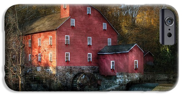 Old Mill Scenes iPhone Cases - Mill - Clinton NJ - The old mill iPhone Case by Mike Savad