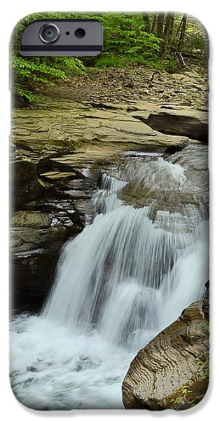 Creek iPhone Cases - Mill Creek Falls #3 iPhone Case by Joel E Blyler