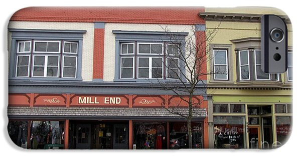 Clare Michigan iPhone Cases - Mill End Store in Clare Michigan iPhone Case by Terri Gostola