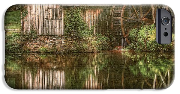 Grist Mill iPhone Cases - Mill on The Blue Ridge  iPhone Case by Darren Fisher