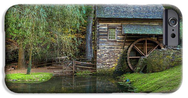 Grist Mill iPhone Cases - Mill Pond in Woods iPhone Case by William Jobes