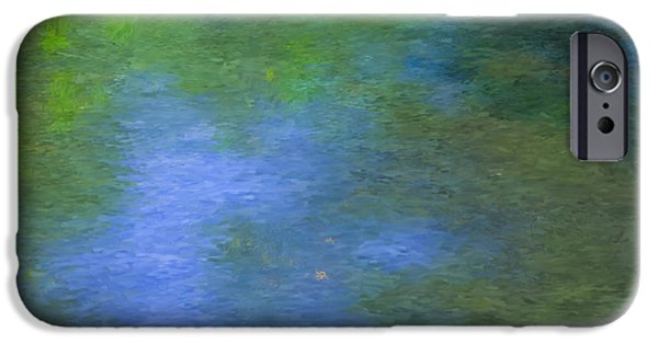Mcentee Paintings iPhone Cases - Mill Stream Sturbridge MA iPhone Case by Bill McEntee