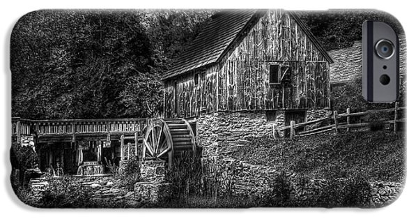 Old Mill Scenes iPhone Cases - Mill - The Mill iPhone Case by Mike Savad