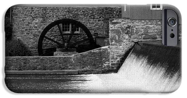 Grist Mill iPhone Cases - Mill Water Wheel iPhone Case by Val Arie