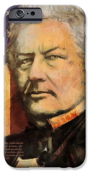Franklin Paintings iPhone Cases - Millard Fillmore iPhone Case by Corporate Art Task Force