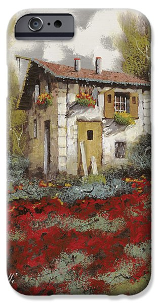House iPhone Cases - Mille Papaveri iPhone Case by Guido Borelli