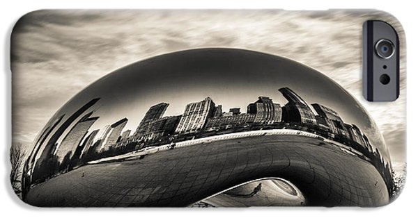 City Scape iPhone Cases - Millenium Bean  iPhone Case by Andrew Slater