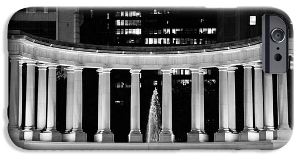 Wrigley iPhone Cases - Millennium Monument and Fountain Chicago iPhone Case by Christine Till
