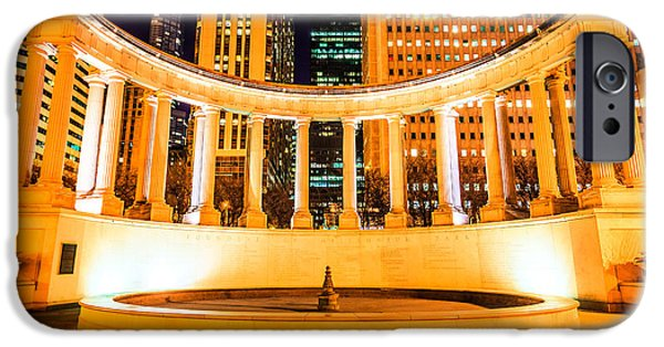 Chicago iPhone Cases - Millennium Monument Fountain in Chicago iPhone Case by Paul Velgos