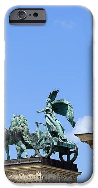 Millennium Monument in Budapest iPhone Case by Artur Bogacki