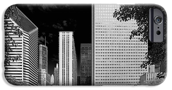 Wrigley iPhone Cases - Millennium Park Monument - The Colonnade - Wrigley Square Chicago iPhone Case by Christine Till