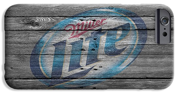 Sign iPhone Cases - Miller Lite iPhone Case by Joe Hamilton