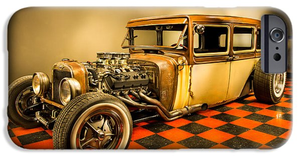 Rusted Cars iPhone Cases - Millers Chop Shop 1929 Dodge Victory Six After iPhone Case by Yo Pedro