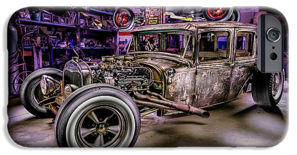 Miller iPhone Cases - Millers Chop Shop 1929 Ford Murray iPhone Case by Yo Pedro