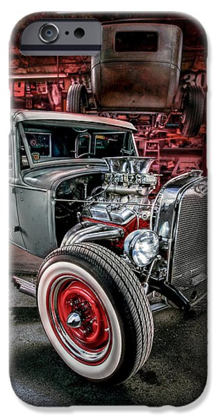 Miller iPhone Cases - Millers Chop Shop 1931 Ford Coupe iPhone Case by Yo Pedro