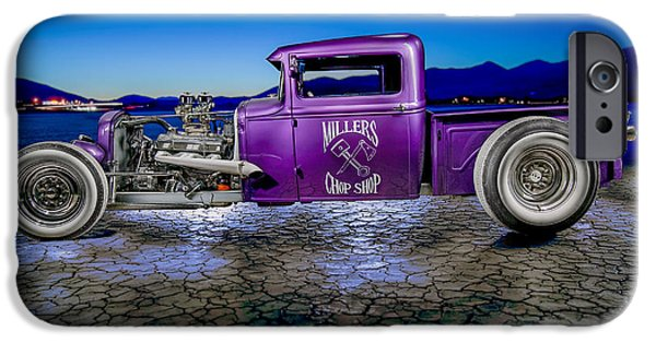 Cars iPhone Cases - Millers Chop Shop 1931 Model A Pickup iPhone Case by Yo Pedro
