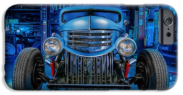 Antique Cars iPhone Cases - Millers Chop Shop 1946 Chevy Truck iPhone Case by Yo Pedro