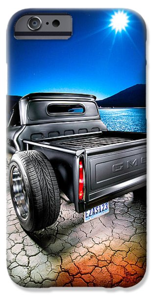Dry Lake iPhone Cases - Millers Chop Shop 1964 GMC Easy As 123 iPhone Case by Yo Pedro