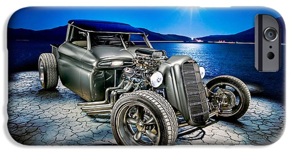 Dry Lake iPhone Cases - Millers Chop Shop 1964 GMC Truck iPhone Case by Yo Pedro