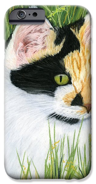 Animal Cards Pastels iPhone Cases - Millie the Adventurer iPhone Case by Sarah Dowson