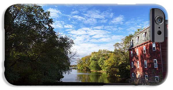 River View iPhone Cases - Millstone River View iPhone Case by John Rizzuto
