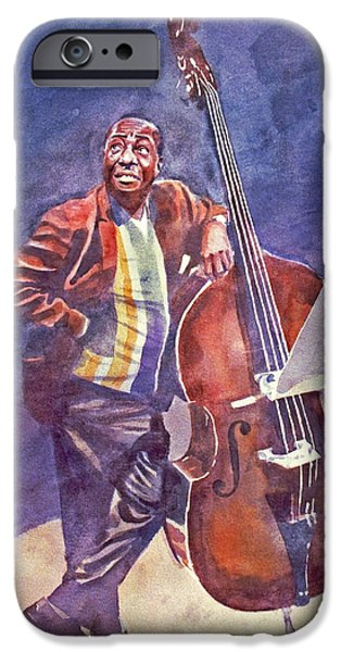 Famous Faces iPhone Cases - Milt Hinton iPhone Case by David Lloyd Glover