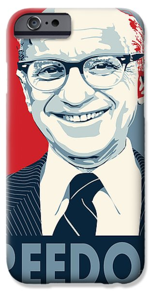 Best Sellers -  - Tea Party iPhone Cases - Milton Friedman iPhone Case by John Lehman