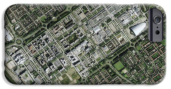 Milton Keynes iPhone Cases - Milton Keynes, Aerial Photograph iPhone Case by Getmapping Plc