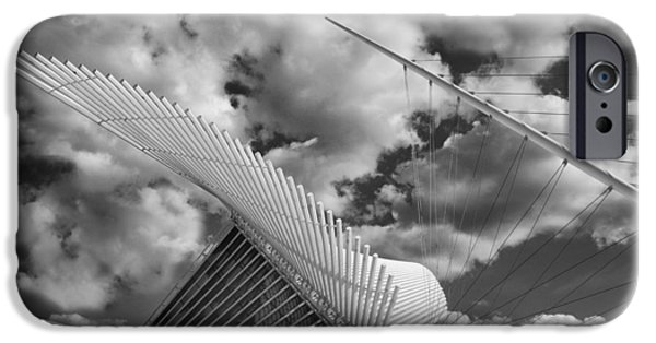 Abstract Forms iPhone Cases - Milwaukee Art Center 2 iPhone Case by Jack Zulli